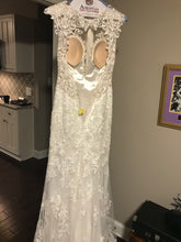 Load image into Gallery viewer, Eddy K '1131' size 4 used wedding dress back view on hanger