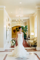 Vera Wang 'Gemma' size 6 used wedding dress front view on model