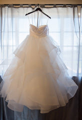 Hayley Paige 'Londyn' size 6 used wedding dress front view on hanger