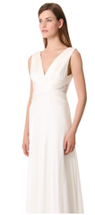 Theia Ruched Chiffon Gown - THEIA - Nearly Newlywed Bridal Boutique - 4