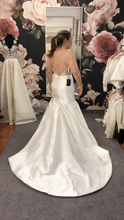 Load image into Gallery viewer, Monique Lhuillier 'BL16212 SLEEK' size 10 sample wedding dress back view on bride