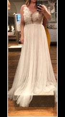 Marchesa 'Heather' size 10 new wedding dress front view on bride