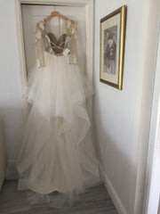 Hayley Paige 'Pippa' size 10 new wedding dress back view on hanger