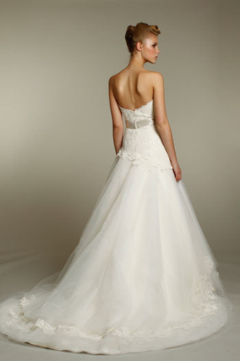 Alvina Valenta AV9162 Lace & Tulle Wedding Dress - Alvina Valenta - Nearly Newlywed Bridal Boutique - 3