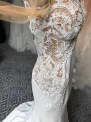 Galia Lahav 'Alora' size 6 new wedding dress close up of material