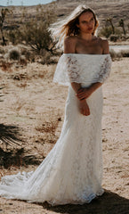 Daughters of Simone 'Winnie' size 6 new wedding dress front view on model