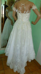 Ella 'Sissi' size 8 used wedding dress back view on mannequin