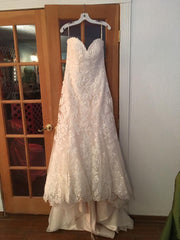 Maggie Sottero 'Rosamund' size 14 used wedding dress front view on hanger