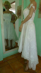 Ella 'Sissi' size 8 used wedding dress side view on mannequin