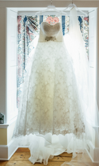 Demetrios 'Ivory Lace' - Demetrios - Nearly Newlywed Bridal Boutique - 1