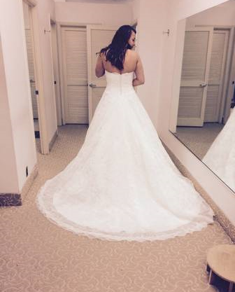 Demetrios 'Ivory Lace' - Demetrios - Nearly Newlywed Bridal Boutique - 5