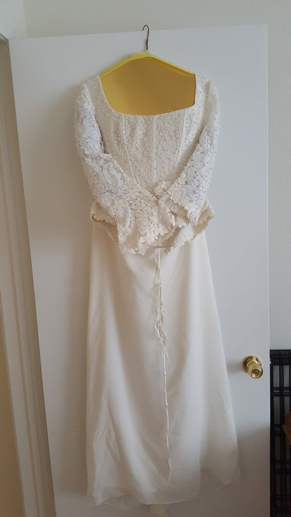 Custom 'Timeless Elegance' - Hand Made in Paris - Nearly Newlywed Bridal Boutique - 1