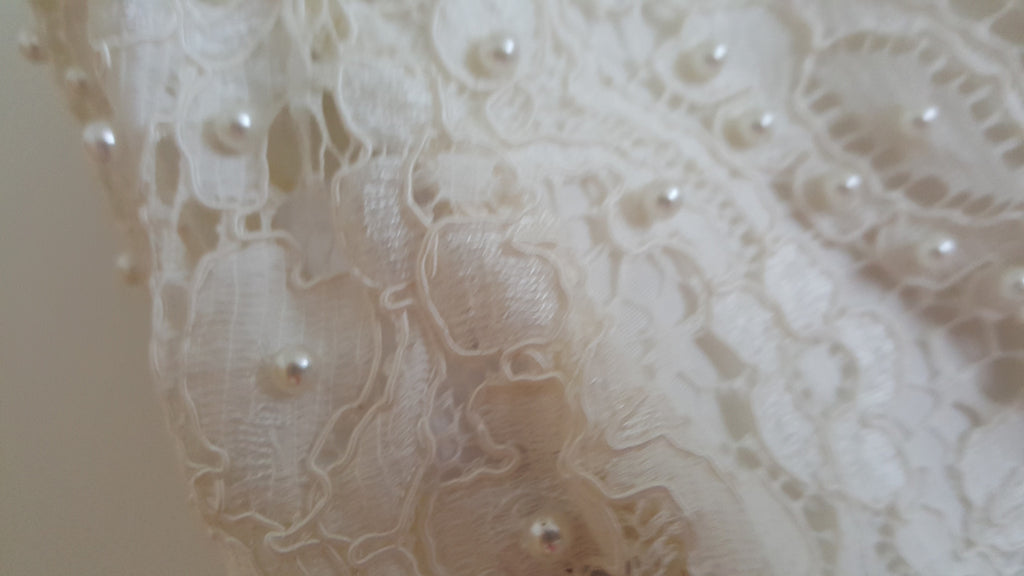 Custom 'Timeless Elegance' - Hand Made in Paris - Nearly Newlywed Bridal Boutique - 5