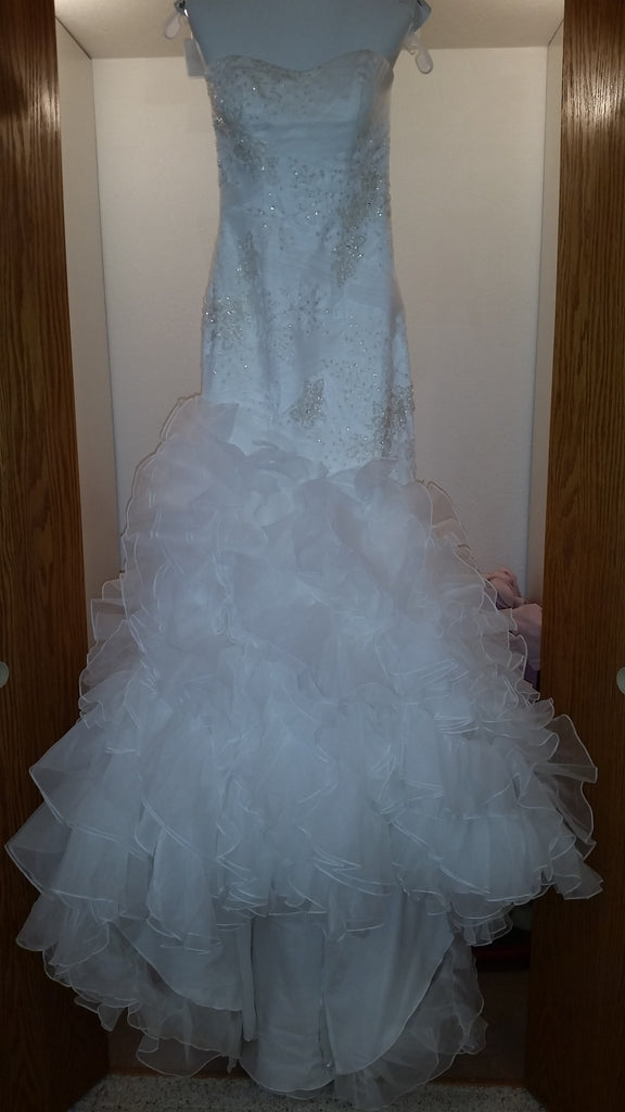 Galina 'Soft White Organza' - Galina - Nearly Newlywed Bridal Boutique - 1