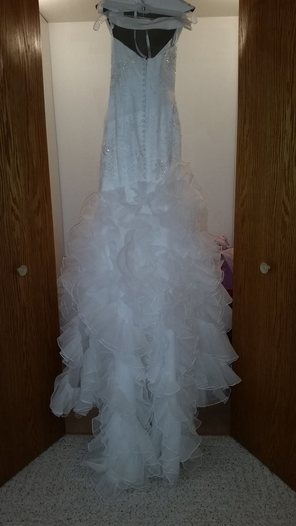 Galina 'Soft White Organza' - Galina - Nearly Newlywed Bridal Boutique - 3