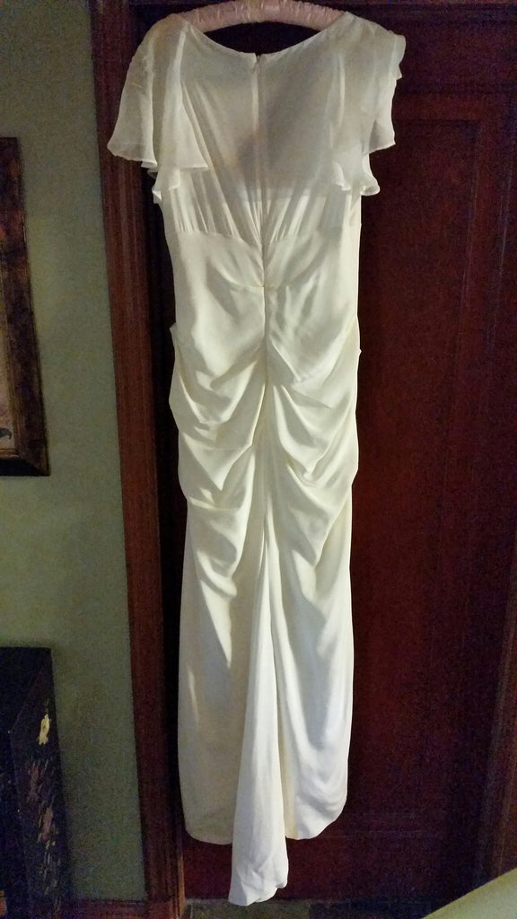 flutter sleeve stretch silk dress by nicole miller - Nicole Miller - Nearly Newlywed Bridal Boutique - 1
