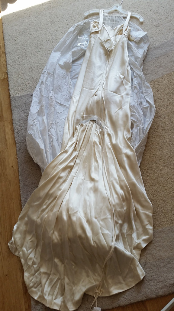 Rivini 'Eros' size 2 new wedding dress back view on hanger