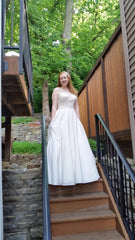 Allure Bridals 'Beaded Dress' size 10 sample wedding dress front view on bride