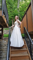 Allure Bridals 'Beaded Dress' size 10 sample wedding dress side view on bride
