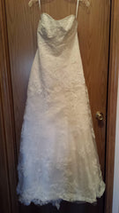 Casablanca '1827' size 8 new wedding dress front view on hanger