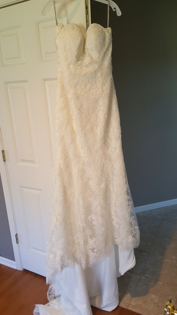 Maggie Sottero 'Chesney' size 10 new wedding dress front view on hanger