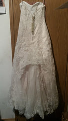 Casablanca '1827' size 8 new wedding dress back view on hanger