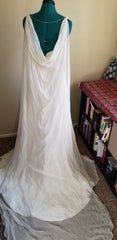 Jasmine Couture Bridal 'T152018' size 4 new wedding dress back view on mannequin