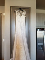Aire Barcelona 'Caiman' size 4 used wedding dress front view on hanger