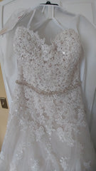Sophia Tolli '11552' size 12 new wedding dress front view on hanger