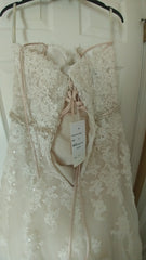 Sophia Tolli '11552' size 12 new wedding dress back view on hanger
