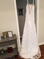 Simply Bridal '80842' size 8 new wedding dress back view on hanger