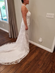 Simply Bridal '80842' size 8 new wedding dress side view on bride