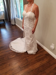 Simply Bridal '80842' size 8 new wedding dress front view on bridw