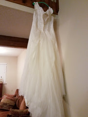Essence of Australia '2466' size 14 used wedding dress back view on hanger
