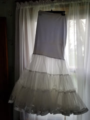 Alfred Angelo '2547' size 14 used wedding dress view of petticoat