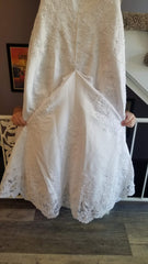 David's Bridal 'Michelangelo V8377' size 14 used wedding dress back view
