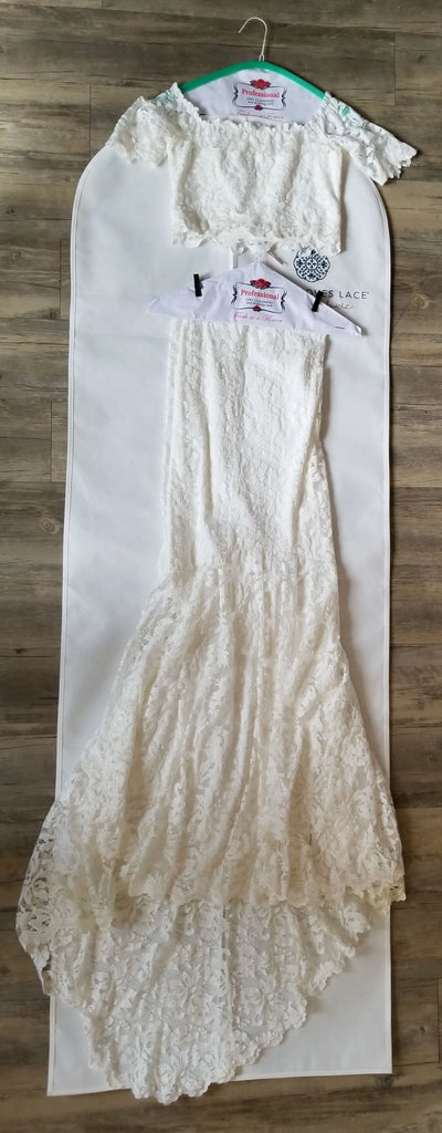 Grace Loves Lace 'Everly' size 4 used wedding dress front view on hanger