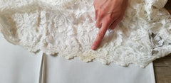 Grace Loves Lace 'Everly' size 4 used wedding dress view of stain