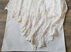 Grace Loves Lace 'Everly' size 4 used wedding dress view of train