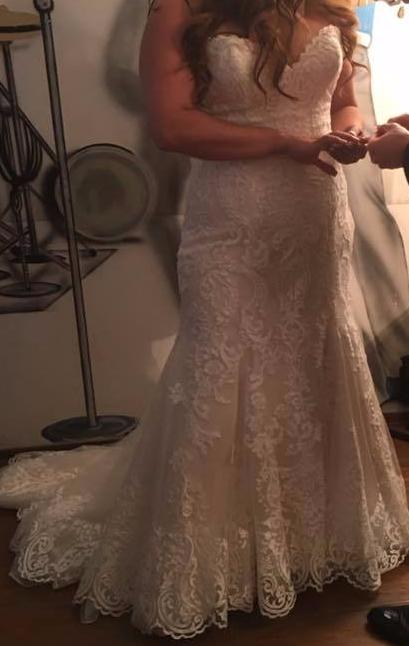 Maggie Sottero 'Rosamund' size 14 used wedding dress front view on bride