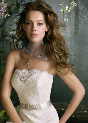 Tara Keely '2053' Lace Strapless Gown - Tara Keely - Nearly Newlywed Bridal Boutique - 2