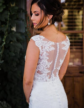 Load image into Gallery viewer, Stella york '6476' size 14 used wedding dress back view on bride