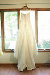 La Sposa Strapless Lace Wedding Dress - La Sposa - Nearly Newlywed Bridal Boutique - 2
