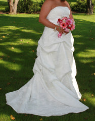 Custom Made Strapless Gown - Custom made - Nearly Newlywed Bridal Boutique - 1