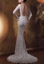 Load image into Gallery viewer, Mon Cherie 'Beaded Lace' Bridal Gown