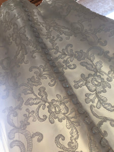 Maggie Sottero 'Chesney' size 2 used wedding dress close up of fabric