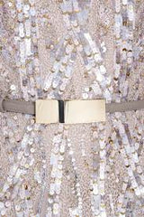 Elie Saab Light Taupe Fully Sequined Wedding Dress - Elie Saab - Nearly Newlywed Bridal Boutique - 6
