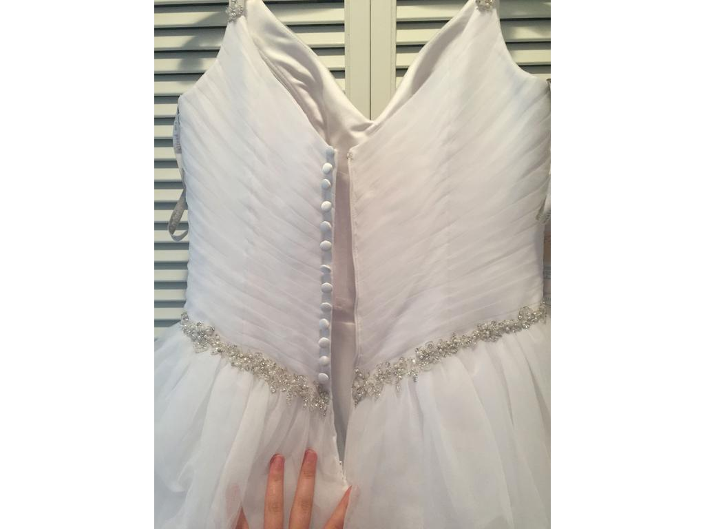 Alfred Angelo '2301' size 2 new wedding dress back view on hanger