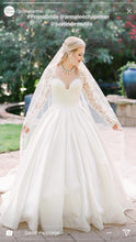 Load image into Gallery viewer, Pnina Tornai '5179-4422' size 14 used wedding dress front view on bride