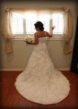 Load image into Gallery viewer, Rosa Clara A-line Tiered Strapless Gown - Rosa Clara - Nearly Newlywed Bridal Boutique - 1